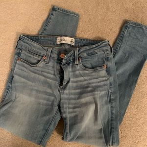Abercrombie and Fitch light wash skinny jeans
